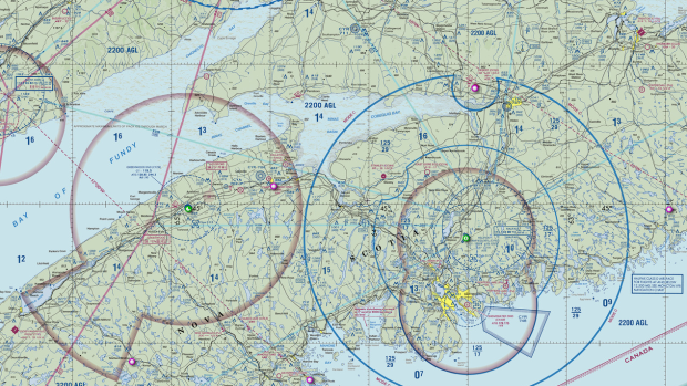 Canadian aviation chart resources in the flitelab